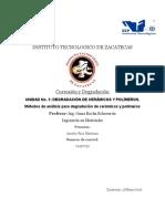 Métodos de Análisis Para Degradación de Cerámicos y Polímeros