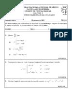 Examen colegiado de cálculo diferencial, FI UNAM