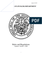 Arkansas State Bank Loan Policy