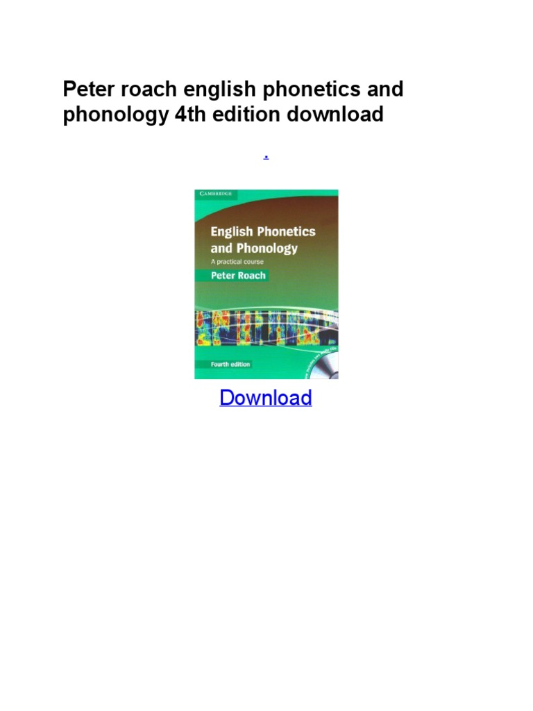 Peter roach english phonetics and phonology.