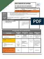 Plan y Programa de Evaluacion 3º, 2do Bloque