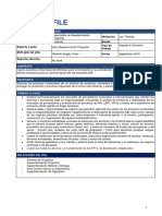 Role Profile - Especialista de Abastecimiento