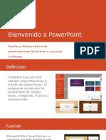 Bienvenido a PowerPoint