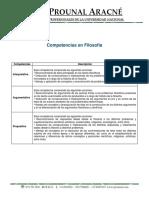 Componentes y Competencias de Filosofía