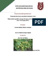Poyecto Biotecnología Vegetal