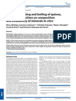 Effects of Roasting and Boiling of Quinoa Kiwicha and Kaiwa on Composition and Availability Ofminerals in Vitro