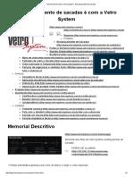 Memorial Descritivo _ Vetro System - Envidraçamento de Sacadas