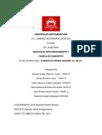 Plan Logistico de La Manufactura Ensueño