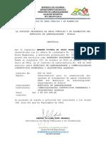 Ejemplo de certificado laboral entidad publica