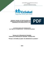 Plan Operativo Alimentación Saludable Festival 2014_compartir