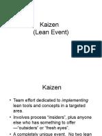 Chapter 2d Kaizen Events