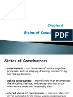 Lecture 4- States of Consciousness