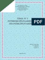 Tema Nº 5 Interdisciplinariedad y Transdiciplinariedad
