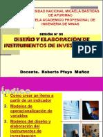 Diseno y Elaboracion de Instrumentos de Investigacion