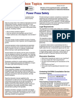 Toolbox Talk Power Press Safety