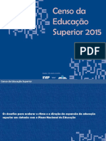 Censo do Ensino Superior - 2015 - INEP/MEC