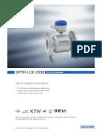 Krohne-OPTIFLUX2000-Datasheet