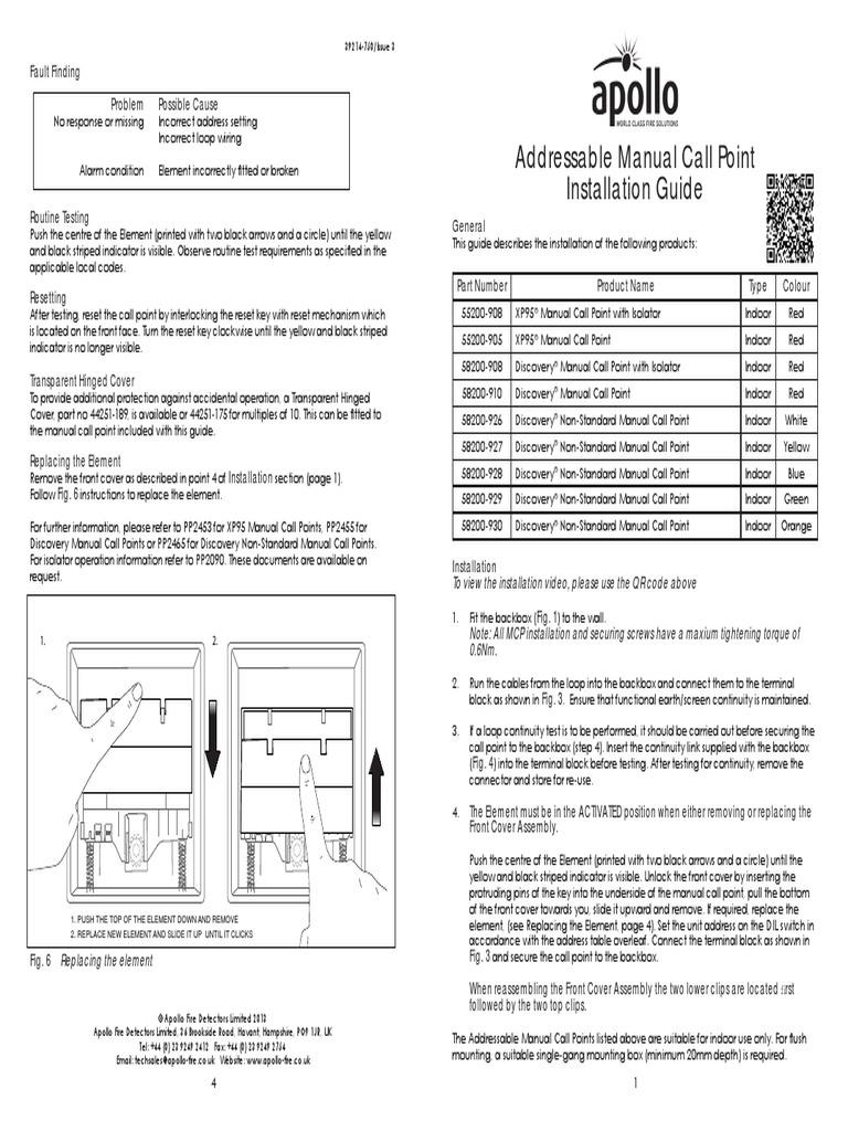 Indoor Analogue Addressable Mcps Ig 750 Issue 3 Locked