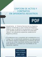 Actos y Contratos en Diferentes Registros
