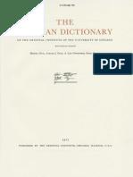 Dicionário Assírio M 1