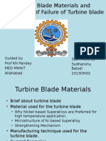 Turbine Blade Materials and Mechanism of Failure Of