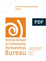 parental engagement in learning and schooling lessons from research bureau aracy august 2012