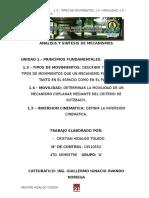 Instituto Tecnologico de Tap. Análsis y Sintesis de mecanismos