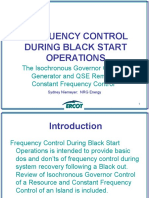 Frequency Control During Black Start Operations 2014 Ots