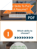 Learn How To Find Skills For Your Resume
