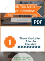 How To Send Your Thank You Letter After An Interview