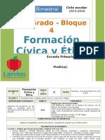 Plan 1er Grado - Bloque 4 Formación C y E