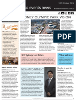 Business Events News for Mon 10 Oct 2016 - Sydney Olympic Park overhaul, ICC Sydney taxi routes, Novotel, Destination NSW, TAA leadership and much more