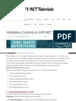 Www Msdotnet Co in 2013 10 Validation Controls in Aspnet Htm