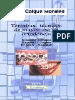 Glosario bilingue terminos tecnicos ortodoncia
