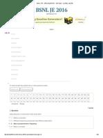 Bsnl Tta - Specialization - Test Paper - 2 _ Bsnl Je 2016