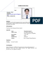 Resume of Manmohan Agrawal Upto 7th March 2013