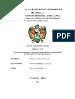 Evaluacion del  recubrimiento de almidon y A.ee  en pimineto