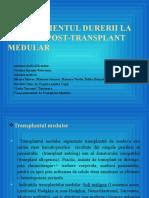 Managementul Durerii La Copilul Post-transplant Medular