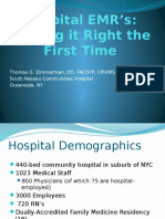 Hospital Emrs Getting It Right the First Time