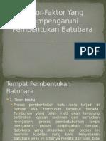 Faktor-Faktor Yang Mempengaruhi Pembentukan Batubara