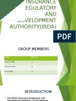 Insurance Regulatory and Development Authority(Irda)