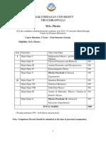 CDE MSc Physics Non Semester Syllabus 2014