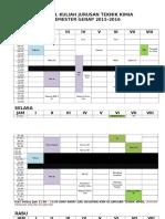 Jadwal Kuliah Tk Genap 2015-2016-2