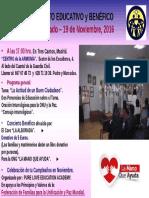 EVENTO EDUCATIVO y BENÉFICO del 19 de Noviembre. 2016 - PLEA