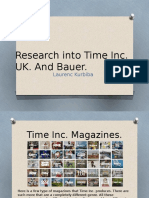 Research Into Time Inc and Bauer