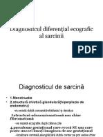 Diagnosticul Diferenţial Ecografic Al Sarcinii