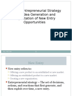 CHP 3 Entrepreneurial Strategy Idea Generation & Eplooitation of New Entry