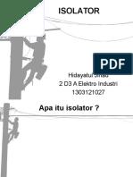 ISOLATOR (Transmisi & Distribusi).ppt