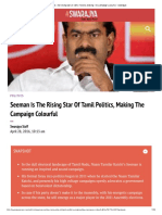 Seeman is the Rising Star of Tamil Poli...King the Campaign Colourful - Swarajya