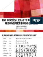 Five Practical Ideas to Incorporate Pronunciation During Lessons